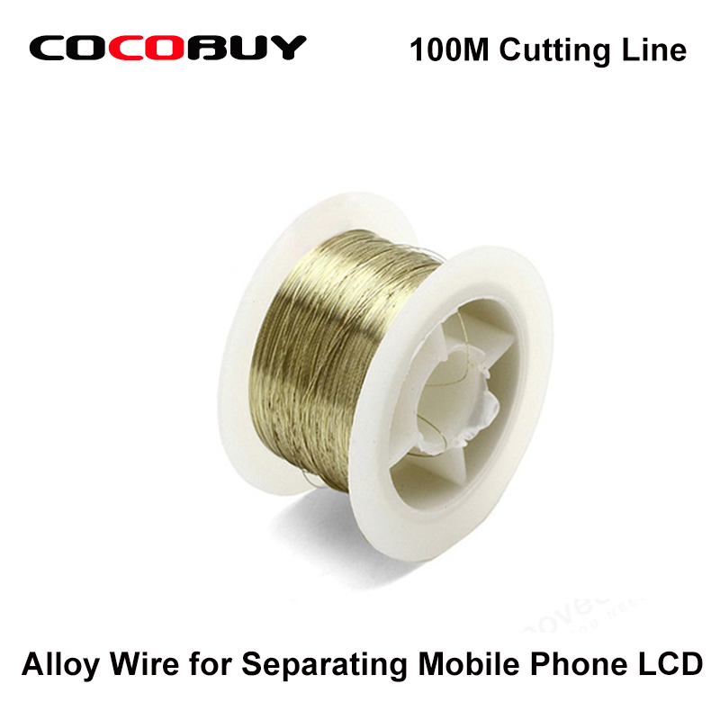 Novecel 5 pcs lot 100M Cutting Line Alloy Wire for Separating Mobile Phone Touch Screen Panel LCD in Tool Parts from Tools