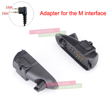 Walkie talkie Audio Adapter For Baofeng BF-9700 UV-XR UV-5S UV5R-WP BF-R6 GT-3WP T-57 UV-9R M Interface 2Pin Headset Port