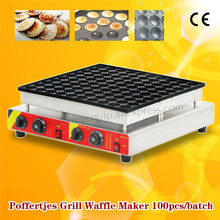Electric Poffertjes Grill 100 pcs/Batch Poffertjes Pancake Waffle Machine Stainless Steel with Timer and Temperature Controller