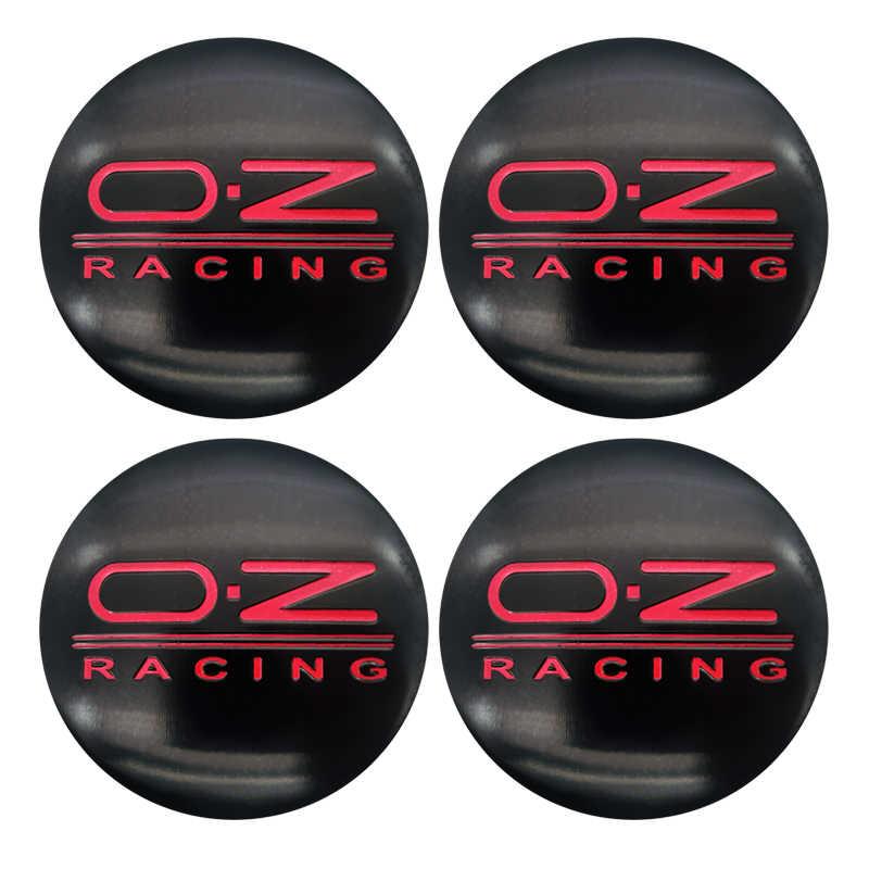 4 pièces 56mm O.Z OZ Logo de course emblème de voiture enjoliveur central de roue enjoliveurs d'insigne pour VW POLO Beetle Golf 4 5 6 7 Passat B5 B6 B7 GTI