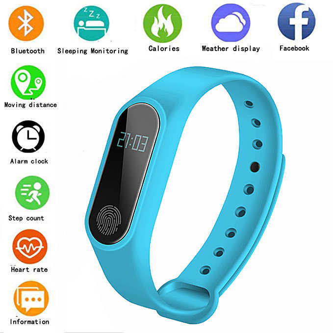 2019 Sports Smart Watch M2 Heart Rate Monitoring Pedometer Alarm Clock Fitness Tracker Waterproof Smart Bracelet For IOS Android