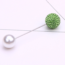 pearl brooch jewelry rhinestone lapel pin men fashion for suit gifts brooches women cardigan clip