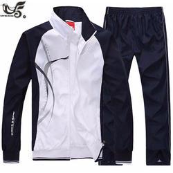 XIYOUNIAO новый мужской комплект весна осень Мужская спортивная одежда 2 шт. комплект спортивный костюм куртка + брюки спортивный костюм