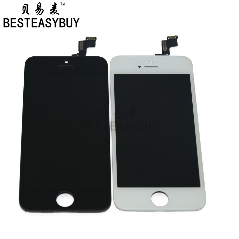 BESTEASYBUY 10pcs/lot Grade AAA LCD Display For iPhone 5S Touch Screen With Digitizer Glass Assembly Replacement No Dead Pixel