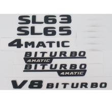 Плоские матовые черные буквы багажника значки эмблема Эмблемы