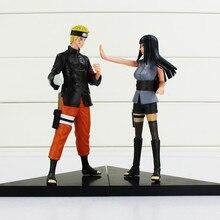 brand Cartoon Anime 15CM Naruto Uzumaki Naruto Hyuuga Hinata PVC Action Figures Collectible Model Toys