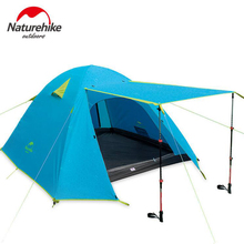 Naturehike Tourist Tent 4 People Outdoor Camping Tents For Rest Family Beach Hiking Fishing Double Layer Waterproof Tent цена
