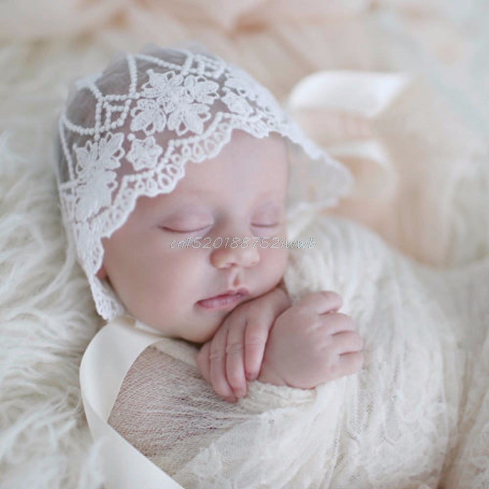 Baby Infant Newborn Girls Kids Lace Floral Hat Cap Beanie Bonnet Hats Photo Prop #T026# newborn cap cotton beanie rhinestone bow hat soft knit striped cap baby supplies baby photo prop