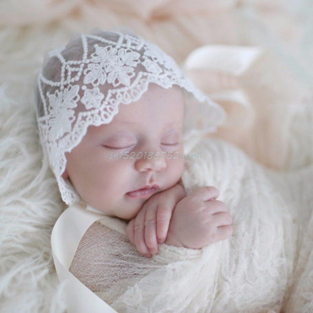 Baby Infant Newborn Girls Kids Lace Floral Hat Cap Beanie