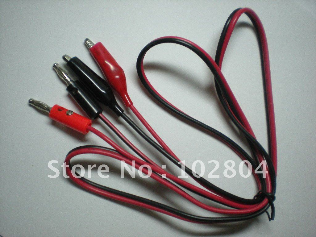 Alligator Clip Test Lead to Banana Plug line cable High quality 1M ...