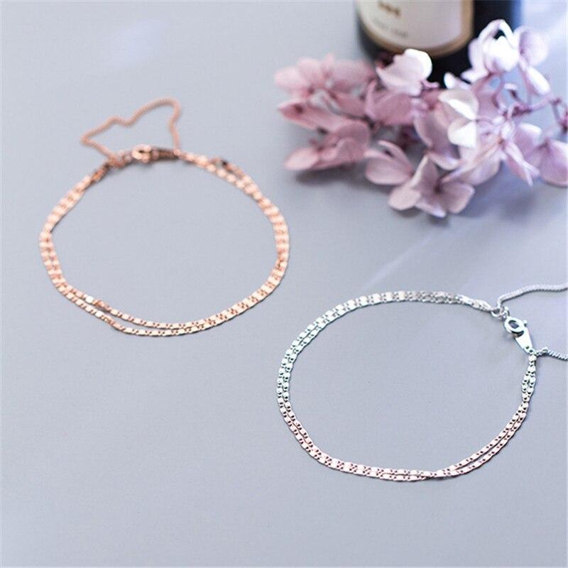 Купить многослойные браслеты 925 серебряные ювелирные изделия длинный