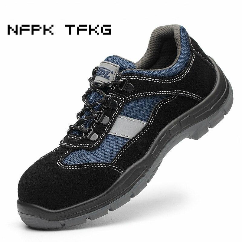 ขนาดใหญ่ผู้ชาย breathable toe หมวกทำงานรองเท้าเพื่อความปลอดภัย comfort light anti   pierce เครื่องมือความปลอดภัยรองเท้าป้องกันชาย-ใน รองเท้าบู๊ทนิรภัยและทำงาน จาก รองเท้า บน   1