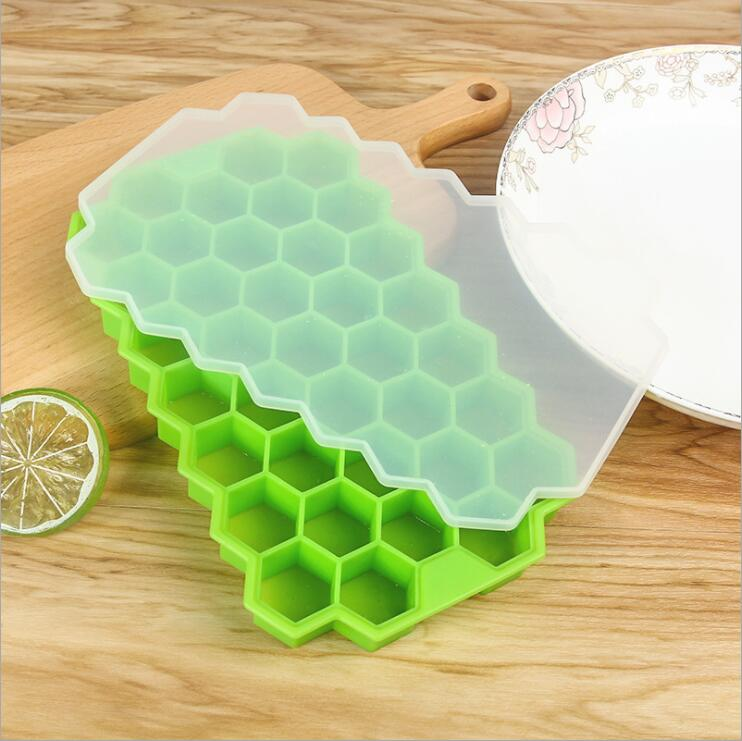 37 grilles nid d/'abeille Mini Glaçons Cube Eco-Friendly Cavité Silicone Tray Mold