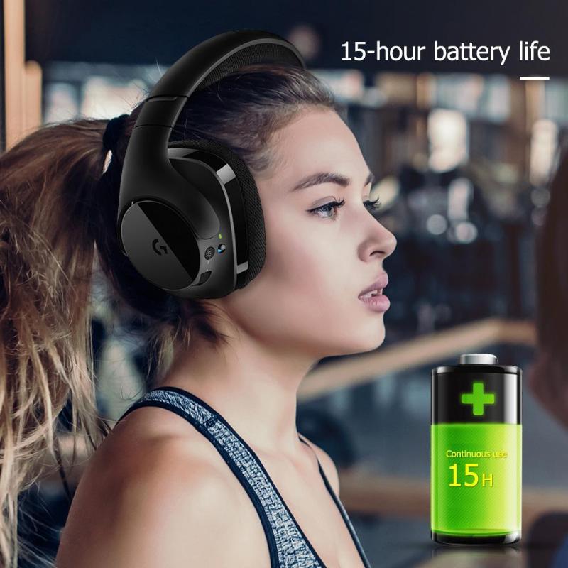 Logitech G533 Wireless Bluetooth Gaming Headphones Pro-G Audio Drivers DTS  7 1 Surround Sound Headset Earphones