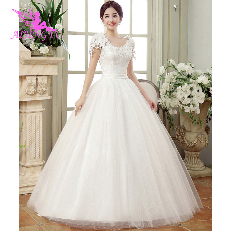 AIJINGYU 2018 floor length free shipping new hot selling cheap ball gown lace up back formal