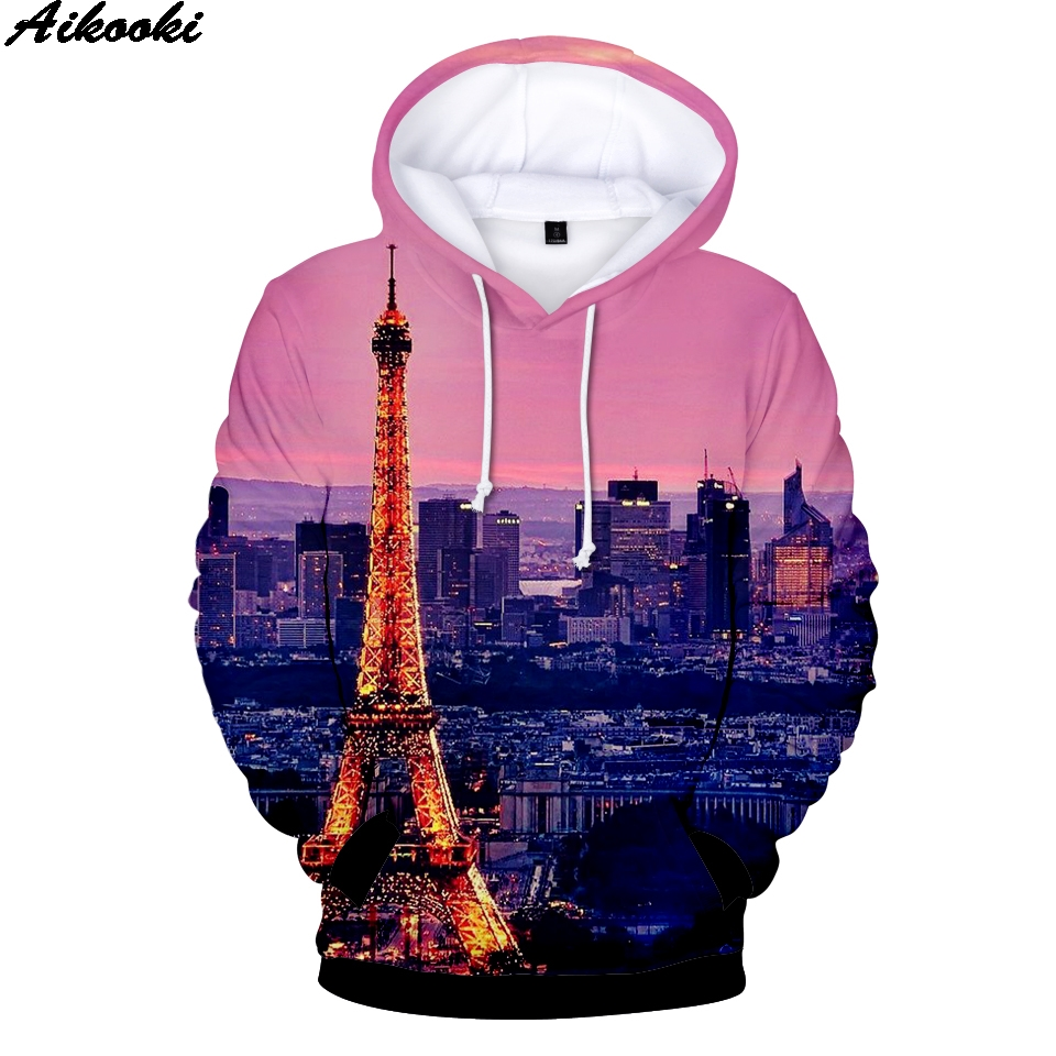 Responsible Pink Fashion Printed 3d Eiffel Tower Winter Hoodieseiffel Tower 3d Mens Hoodies Clothing Casual Men/women Hooded 3d Sweatshirt Suitable For Men And Women Of All Ages In All Seasons Men's Clothing