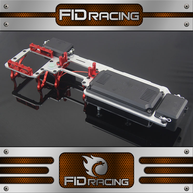Fid Racing V2 CNC Alloy Dual Servo Radio Tray Steering Gear Rack For Losi 5IVE T ROVAN KM DDT 1/5 Gas Rc Car Upgrade Parts fid rear axle c block for losi 5ive t mini wrc
