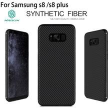 Nillkin синтетического волокна case для samsung galaxy s8 случаи углеродного волокна pp пластика задняя крышка case для samsung s8 плюс case luxury