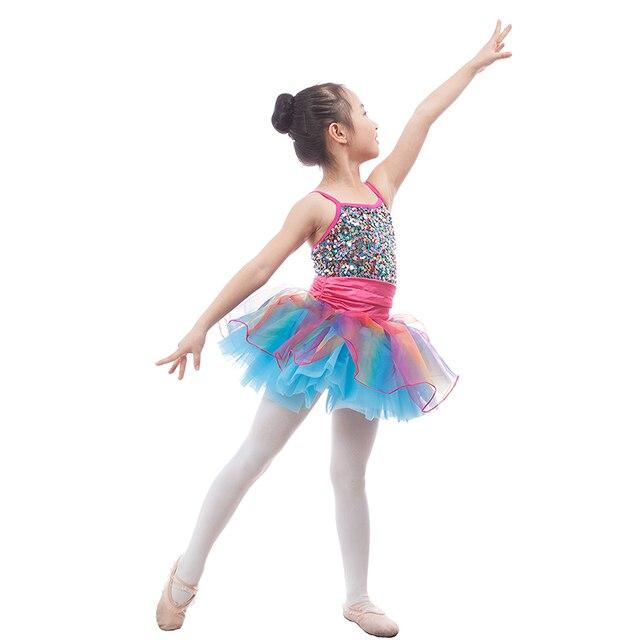 b26737fb5ec5 Shining Sequins Mixed color Children Ballet Tutu Girls Ballerina ...