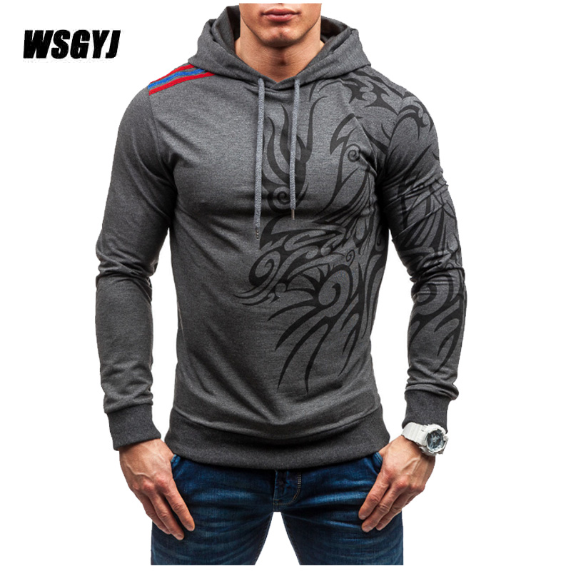 Buy Cheap Brand 2017 Hoodie Casual Dragon Printing Hoodies Men Fashion Tracksuit Male Sweatshirt Hoody Mens Purpose Tour Size Xxxl Hoodies & Sweatshirts