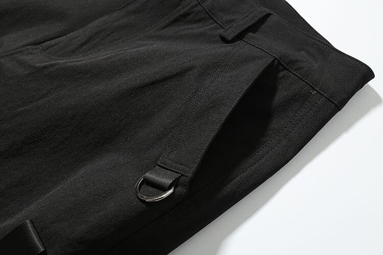 Hommes Ouaté Street Rubans Noir Harem Multi Pantalon Mode Casual poches Hip High Coton Mâle Joggers Dancer Cargo Pantalons Hop xzwf44H