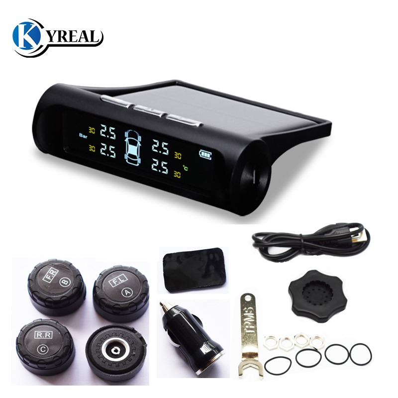 2018 New Arrival Solar Power TPMS Wireless Tire Pressure Monitoring System Car Tyre Pressure Alarm System