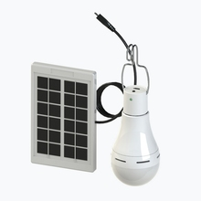 LED Solar Light Solar Bulb with Remote Control Lamp Indoor Waterproof Panel Emergency Plastic Bulb Hook Tent Lantern Outdoor