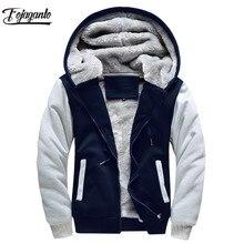 FOJAGANTO брендовые мужские толстовки на осень и зиму, мужской пуловер, толстовки, мужские толстовки, толстовка с капюшоном, пальто
