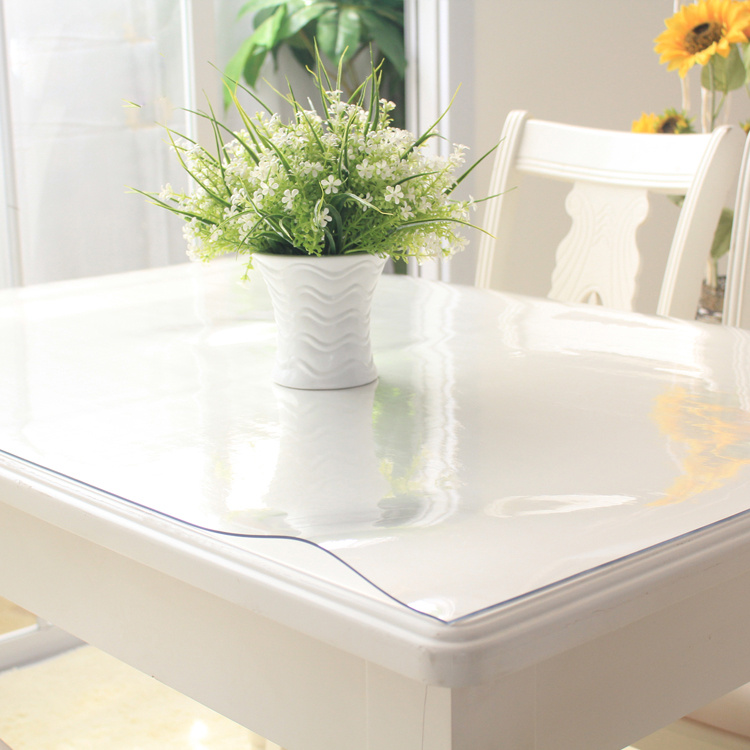 Clear Kitchen Table Part - 47: Aliexpress.com : Buy Waterproof Clear PVC Tablecloth Protector Table Linens  Cover Cloth Home Decor For Kitchen Supplies DIY Textiles 100x100cm From  Reliable ...