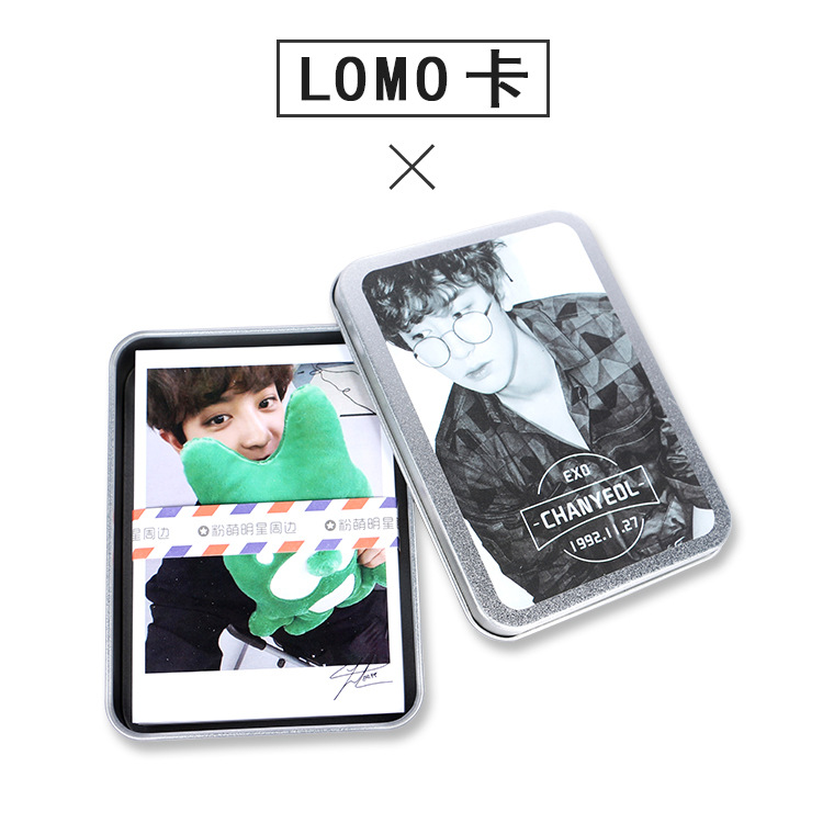 [TOOL]2017 Fashion Kpop EXO Member chanyeol  Piaochanlie  LOMO card 50 pieces in iron box  #0132 member