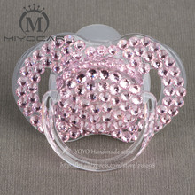 MIYOCAR chupete de cristal ostentoso para bebé, 5 uds., cristal ostentoso, diamantes de imitación, pezones, Dummy/cockka/chupeta y clips para chupete
