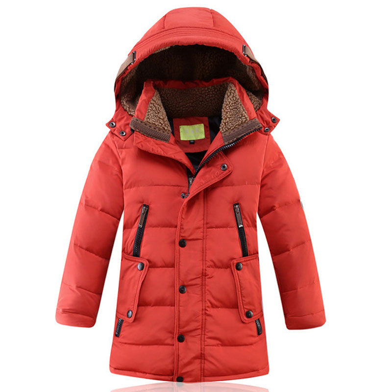 Children Hooded Jackets Kids Winter Jacket Parka Coat Boys Warm White Duck Down Coats Baby Boys Thick Slim Coats Outerwear E252 2016 christmas kids clothes jackets girls spring boys winter brands warm hooded coats parka white duck down children waterproof