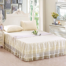 цены на Bed decoration cotton bed skirt cotton lace bedspread Fitted sheet  в интернет-магазинах
