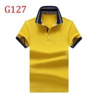 Y13 T Shirt Men New 100 Cotton T Shirt Men Solid Color Tshirt Mandarin Collar G127