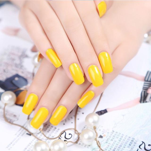 New Arrive Yellow Color Nail Polish Sticker Nail Art Decoration