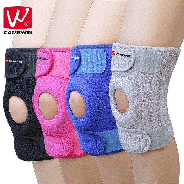 CAMEWIN 1 шт., наколенники из силикагеля, наколенники, спортивные, дышащие, для пешего туризма, бега, баскетбола, поддержка колена с 4 пружинами U