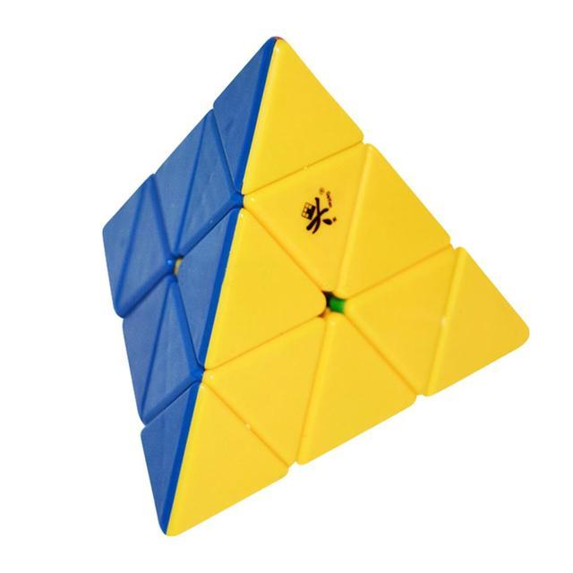 Pyraminx cubo de la Velocidad Stickerless DaYan Cubo Mágico Puzzle Juguetes Para Los Niños