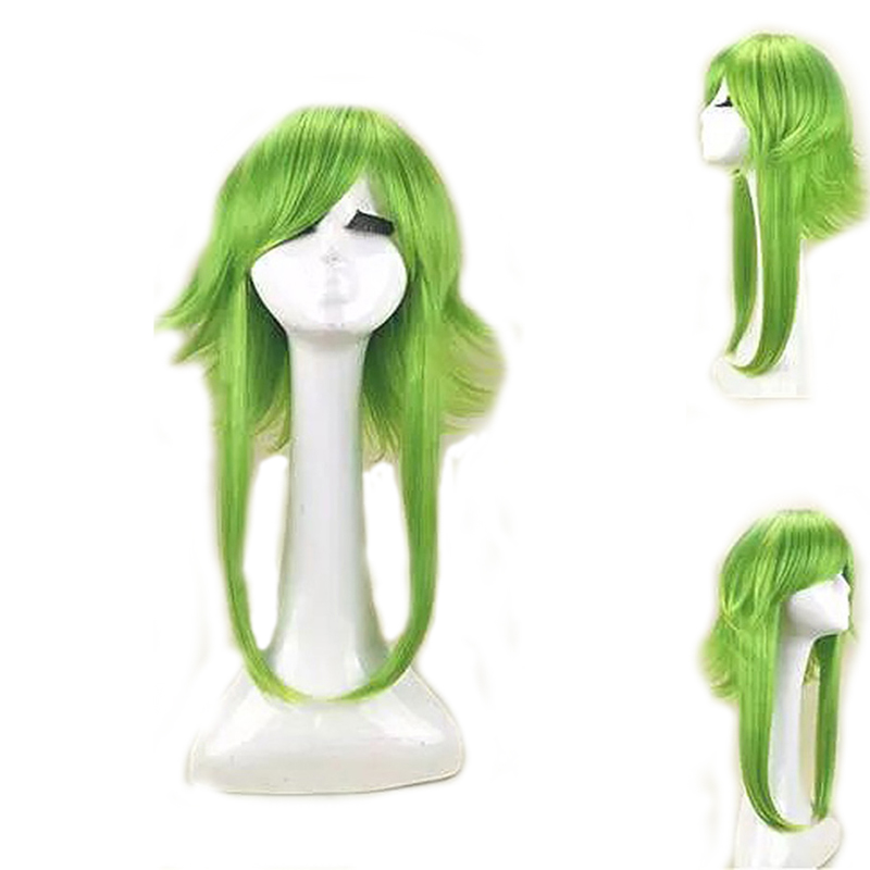 HAIRJOY Women VOCALOID GUMI Cosplay Wig Green Heat Resistant Synthetic Hair Medium Length Straight Costume Wigs Free Shipping 2