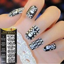 Black Skull Sexy Pattern Nail Arts Sticker 14 pcs/set Waterproof Nail Decal Art Sticker Gel Polish Manicure Foils Beauty Makeup
