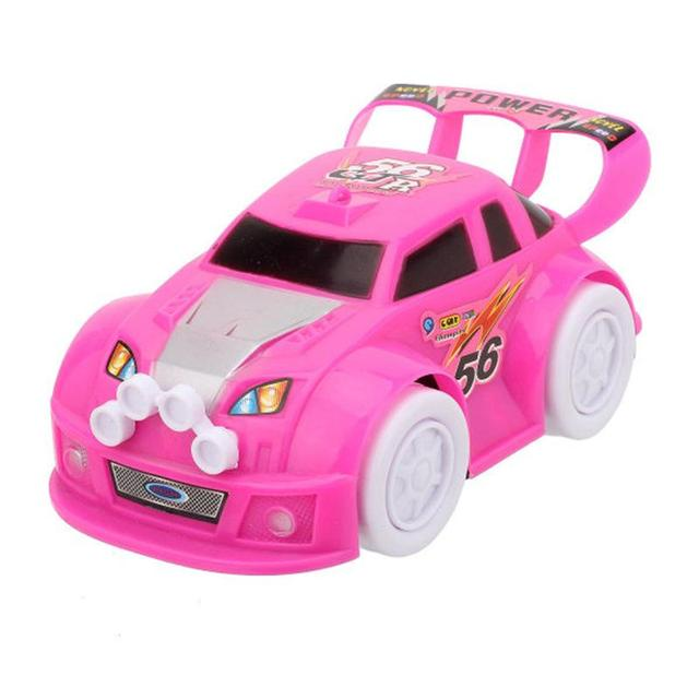led light flashing music racing car kid baby toy automatic steering electric car for kids gift