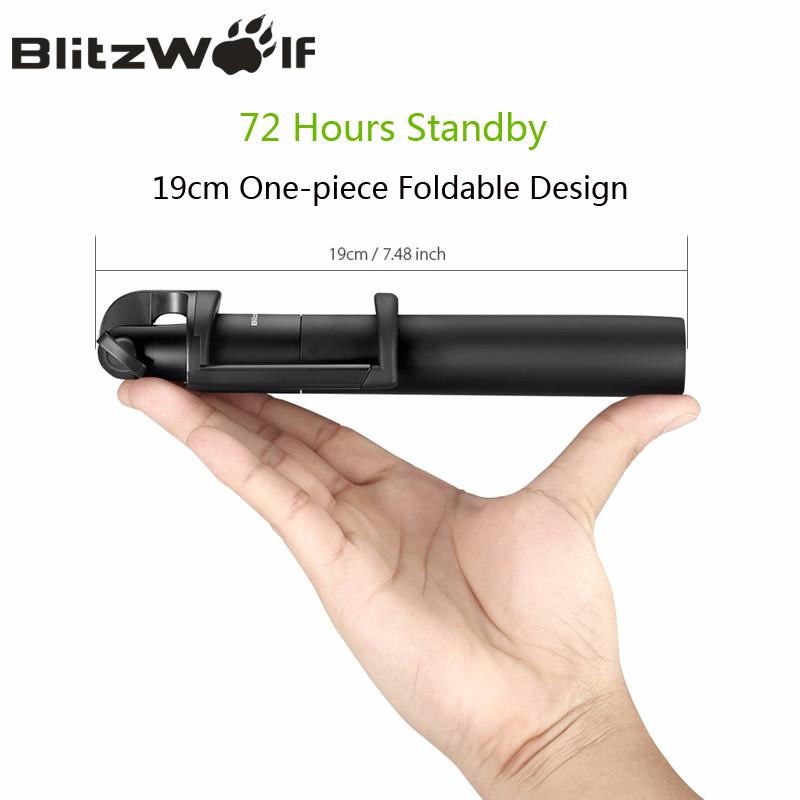 Prix pour Blitzwolf sans fil bluetooth selfie bâton extensible portable selfie bâton trépied manfrotto mini universel pour android pour iphone