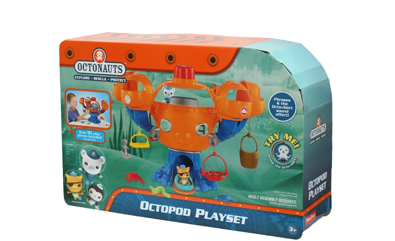 Free shiping 1 set of Chinese Edition original Octonauts Oktopod Splelset figure toy with original box child Toys original octonauts octonauts marine animals creatures figures toy sea turtle urchin white tip shark child toys minifigures