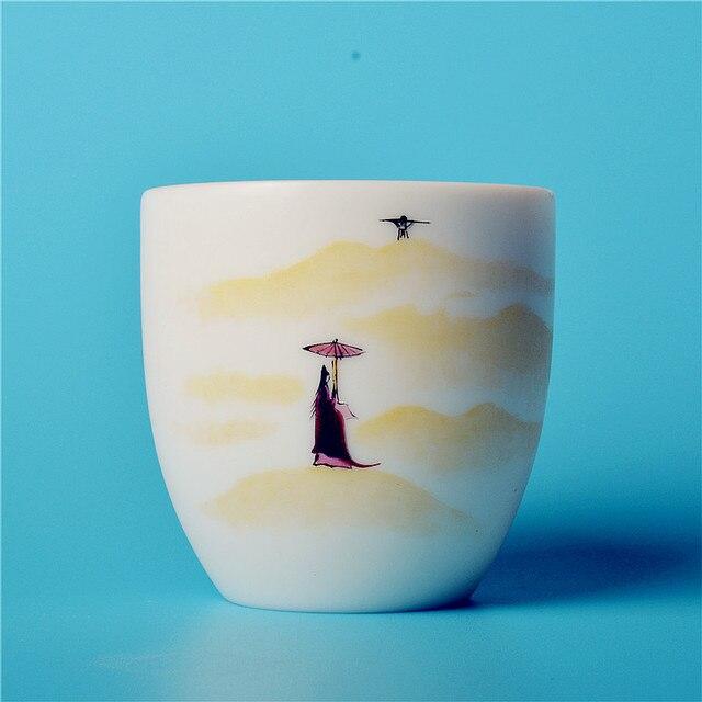 Preto de cerâmica Bonito copos copos podem ser usados para uma pessoa do oolong e chá sopa tipo 002