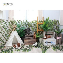 Tent Wigwam Animals Fragile Wooden Fence Baby Newborn Portrait Photography Backdrops Photo Backgrounds Photocall Studio