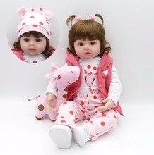 Преследовать 24 «/60 см Lifelike Силиконовые Reborn малышей принцесса девушка игрушки куклы маленький жираф Bebe Reborn com Corpo де силиконовые Menina