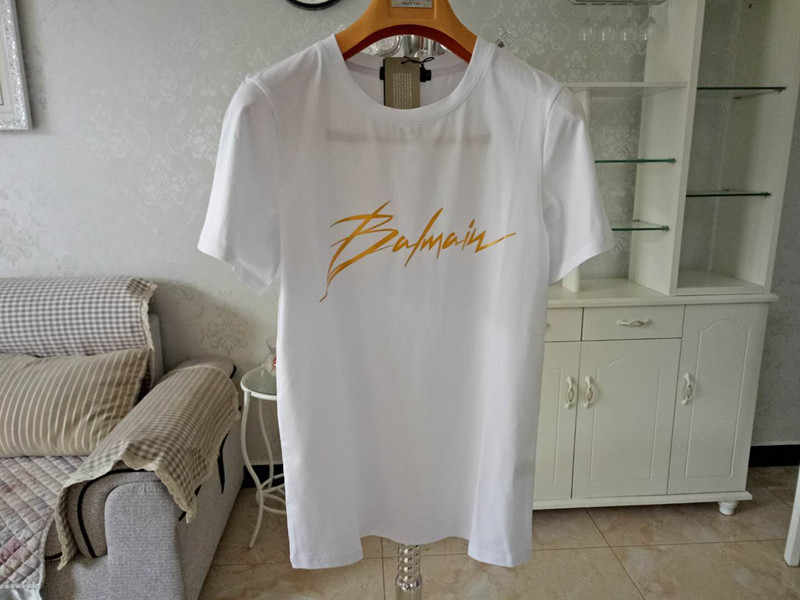 2019 New Style T-shirt Hot ins Balmain T-shirt Men and Womens T