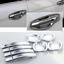 High-quality For Hyundai Santa ABS Car Styling Chrome Side Door Handle Cover and Bowl