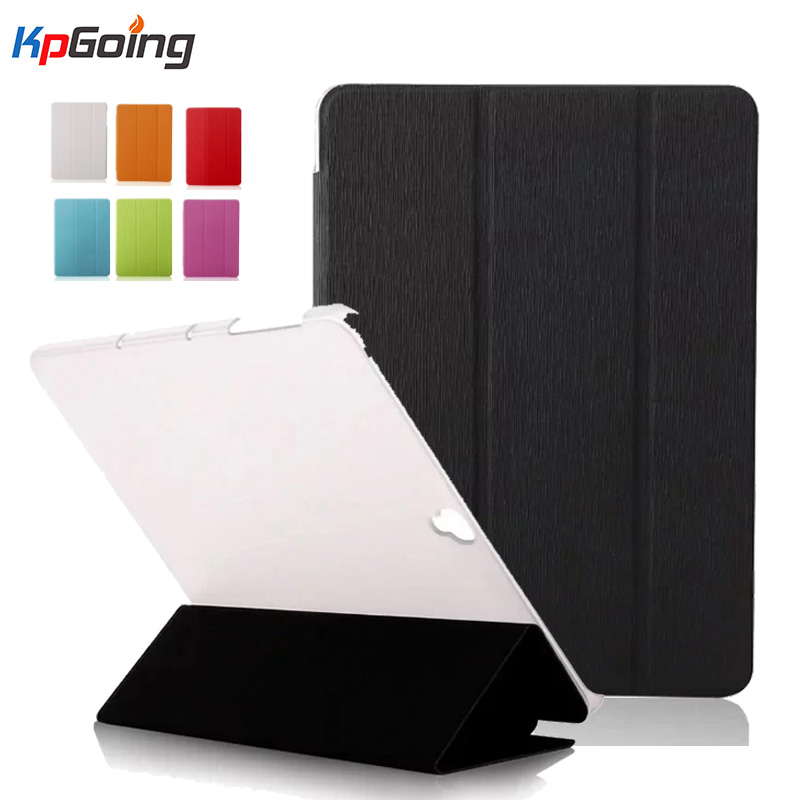 Luxury Folding Stand PU Cover Case For Samsung Galaxy Tab S3 9.7 Flip Cover W/ Transparent Back Cover For Samsung Tab S3 9.7Luxu luxury folding flip smart pu leather case book cover for samsung galaxy tab s 8 4 t700 t705 sleep wake function screen film pen