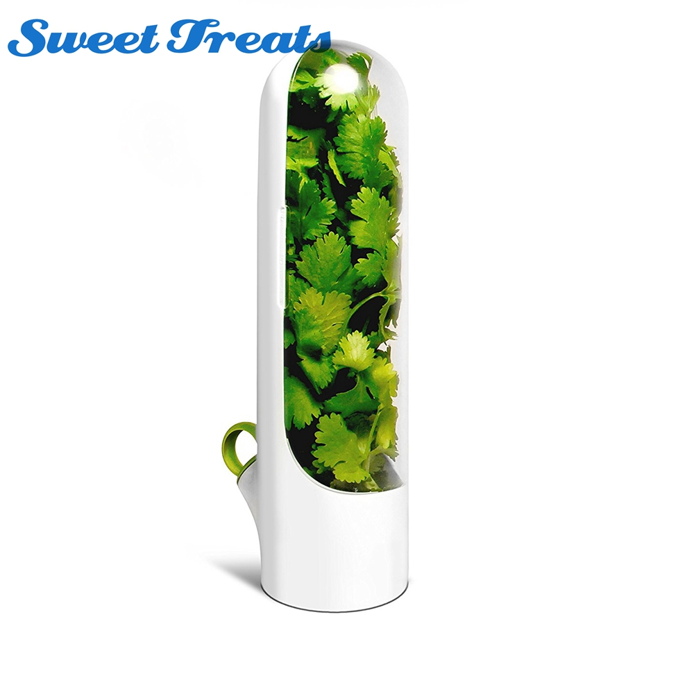 Sweettreats Container Herb-Storage Vegetables Premium-Herb-Keeper And Fresh for 2x Longer title=