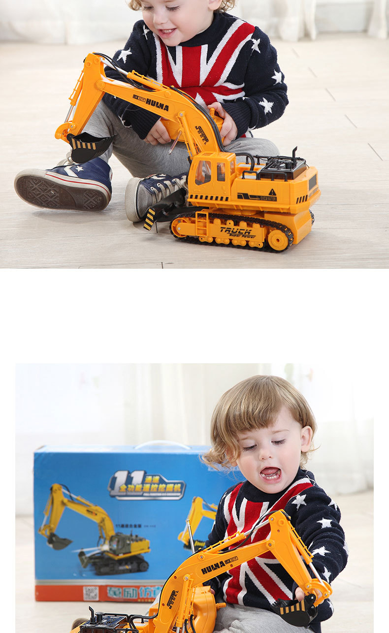 Large 11 Channels RC Excavator RC Car Remote Control Toys Car Electric Excavator Charging Electric Vehicle Toys For Kids Boys 19
